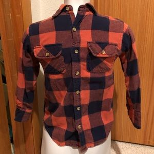 Kids flannel shirt size small